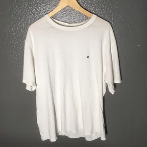 Distressed Tommy Hilfiger White Tee